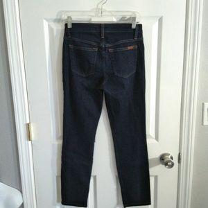 Joe's blue skinny cropped jeans size 25
